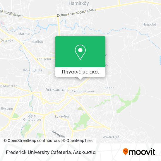 Frederick University Cafeteria χάρτης