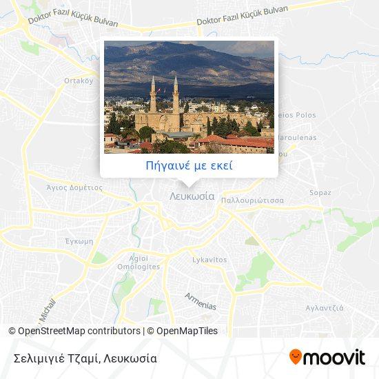 Σελιμιγιέ Τζαμί χάρτης