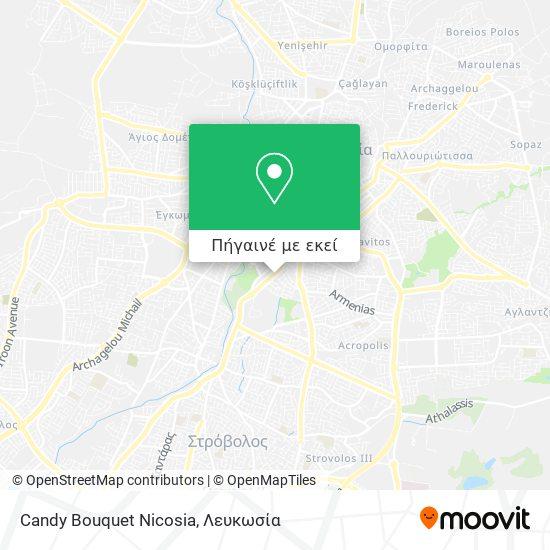 Candy Bouquet Nicosia χάρτης