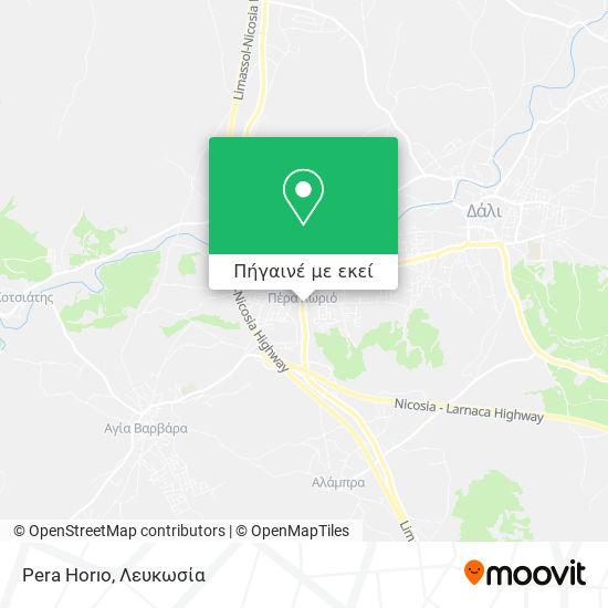 Pera Horıo χάρτης