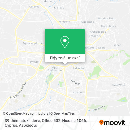 39 themistokli dervi, Office 502, Nicosia 1066, Cyprus χάρτης