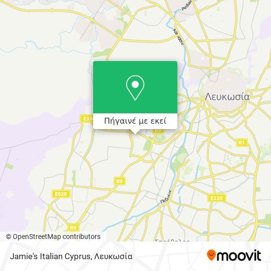 Jamie's Italian Cyprus χάρτης