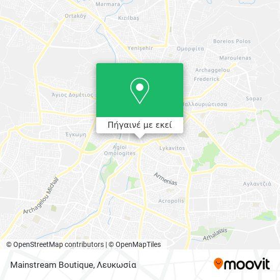 Mainstream Boutique χάρτης