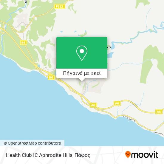 Health Club IC Aphrodite Hills χάρτης