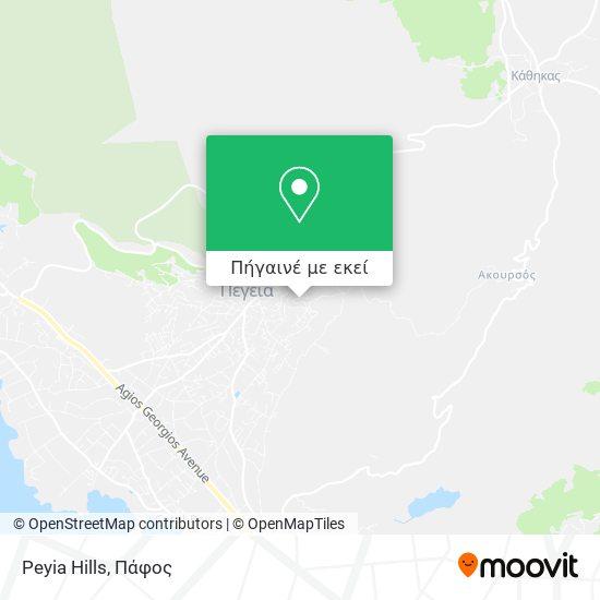 Peyia Hills χάρτης