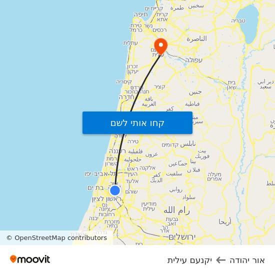 מפת אור יהודה ליקנעם עילית