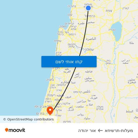 מפת מעלות-תרשיחא לאור יהודה