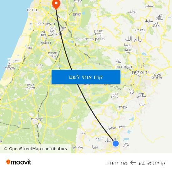מפת קריית ארבע לאור יהודה