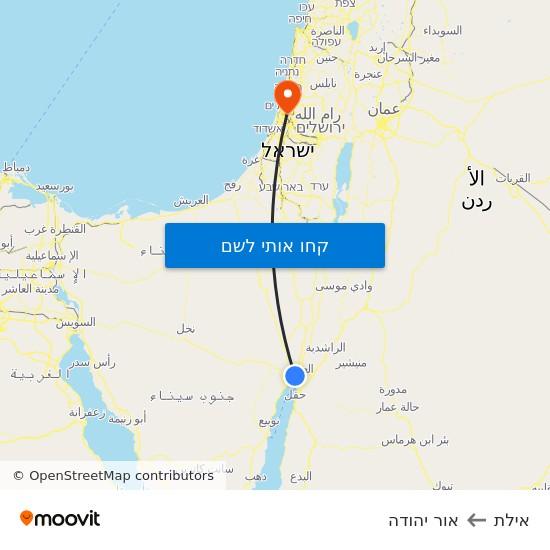 מפת אילת לאור יהודה