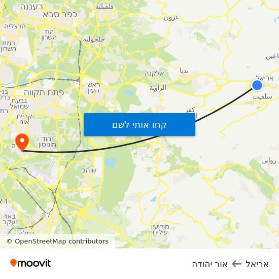 מפת אריאל לאור יהודה