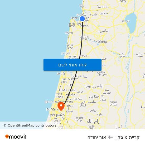 מפת קריית מוצקין לאור יהודה