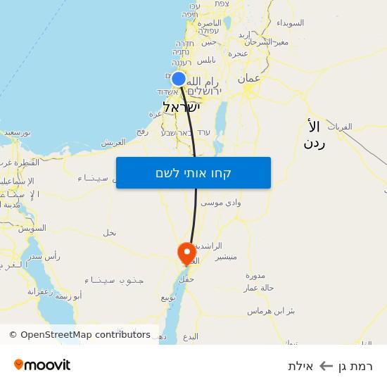 מפת רמת גן לאילת