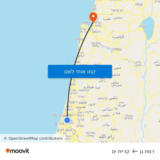 מפת רמת גן לקריית ים