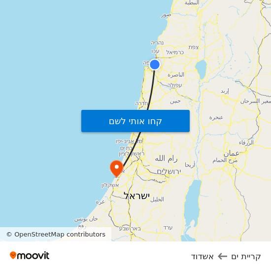 מפת קריית ים לאשדוד