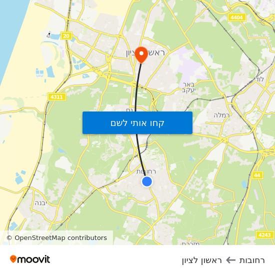 מפת רחובות לראשון לציון