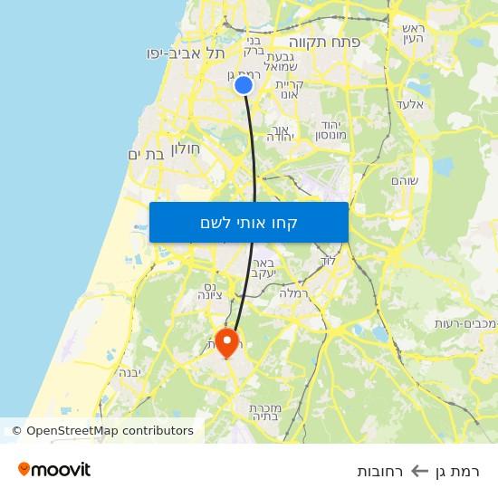 מפת רמת גן לרחובות