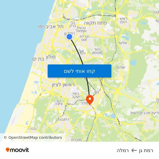 מפת רמת גן לרמלה