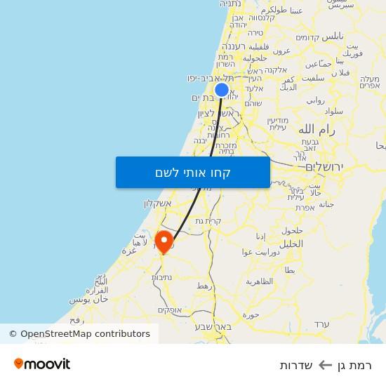 מפת רמת גן לשדרות