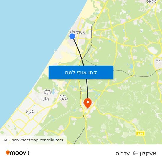 מפת אשקלון לשדרות