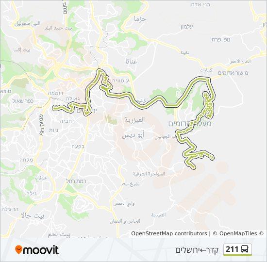 מפת המסלול של קו  211
