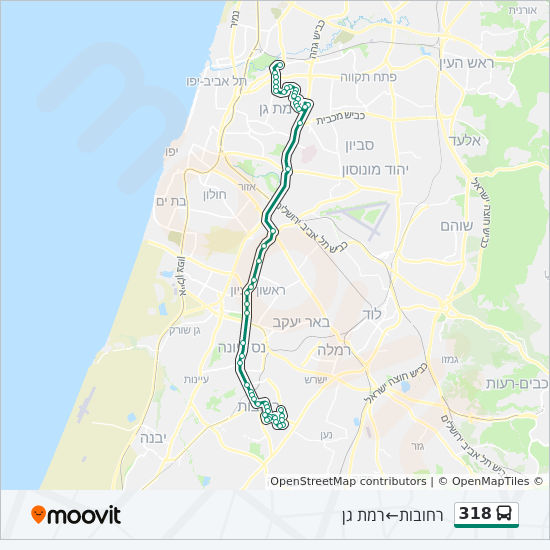 318 bus Line Map