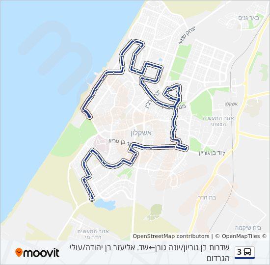 מפת המסלול של קו  3