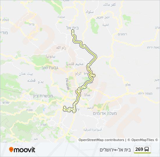 מפת המסלול של קו  269