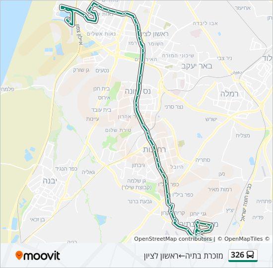 מפת המסלול של קו  326
