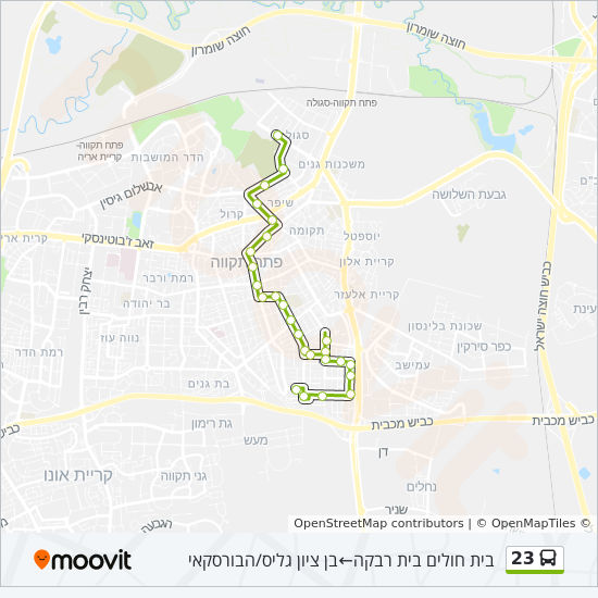 23 bus Line Map
