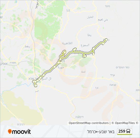 מפת המסלול של קו  259