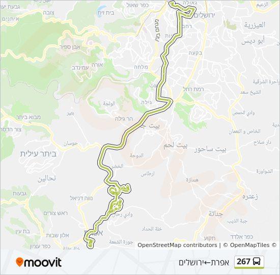 מפת המסלול של קו  267