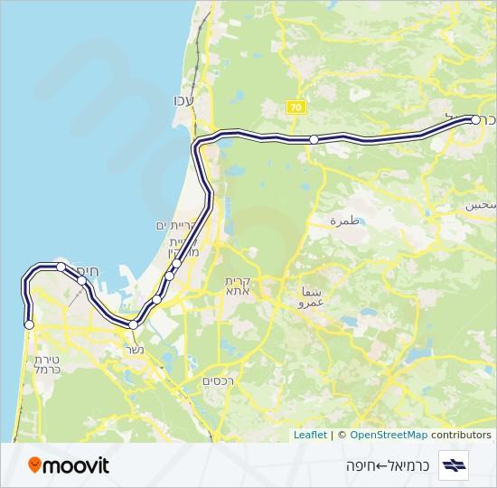 פנטסטי קו קו כרמיאל - חוף הכרמל: לוח זמנים, תחנות ומפות - כרמיאל ← חיפה HN-04