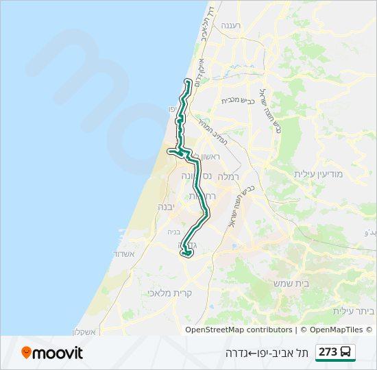 מפת המסלול של קו  273