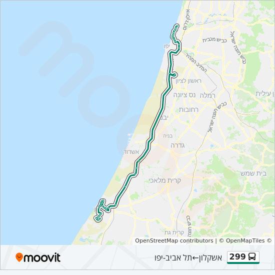מפת המסלול של קו  299