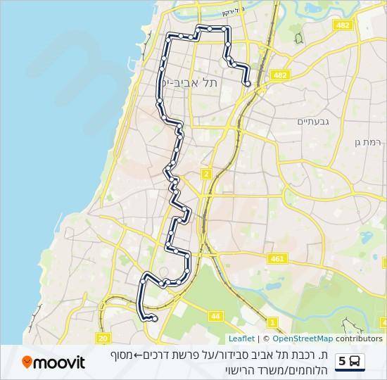 מפת המסלול של קו  5