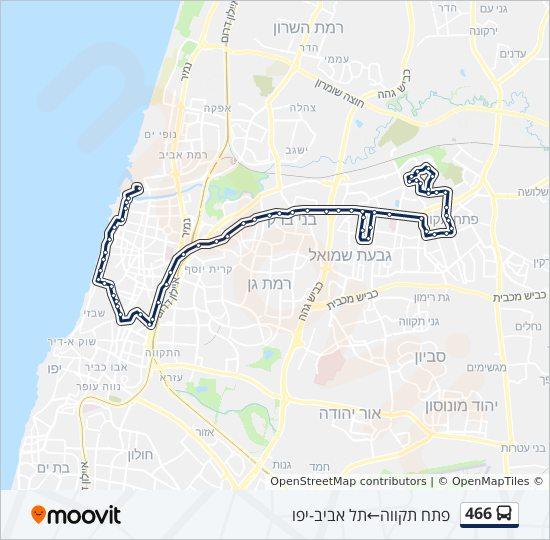 מפת המסלול של קו  466