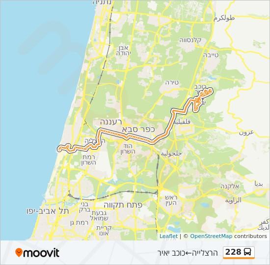 מפת המסלול של קו  228