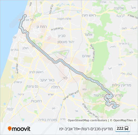 מפת המסלול של קו  222