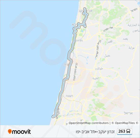 מפת המסלול של קו  263