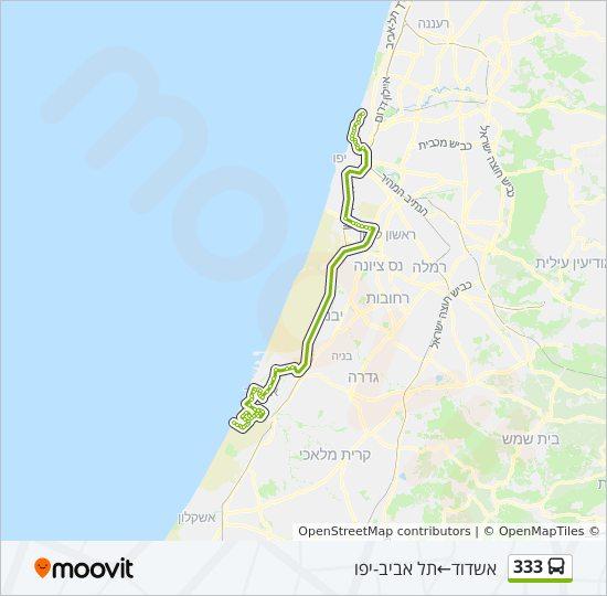 מפת המסלול של קו  333