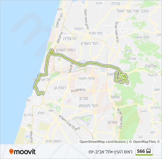 מפת המסלול של קו  566