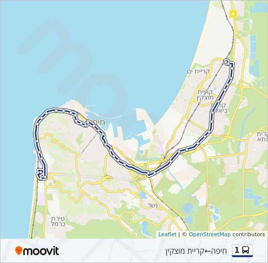 מפת המסלול של קו  1