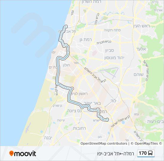 מפת המסלול של קו  170
