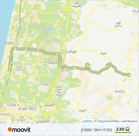 מפת המסלול של קו  230