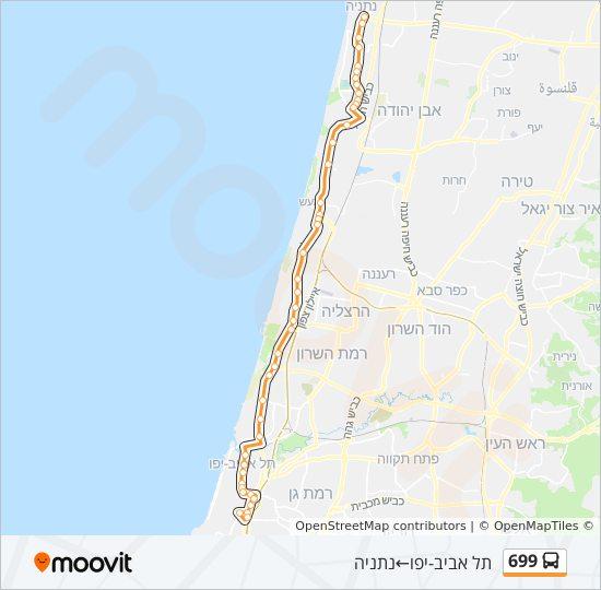 מפת המסלול של קו  699