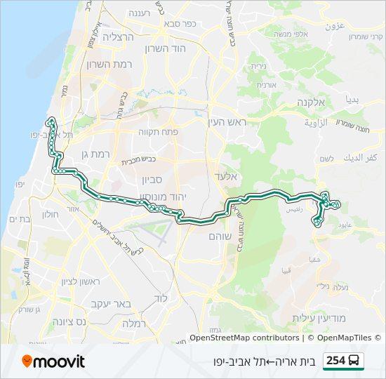 מפת המסלול של קו  254