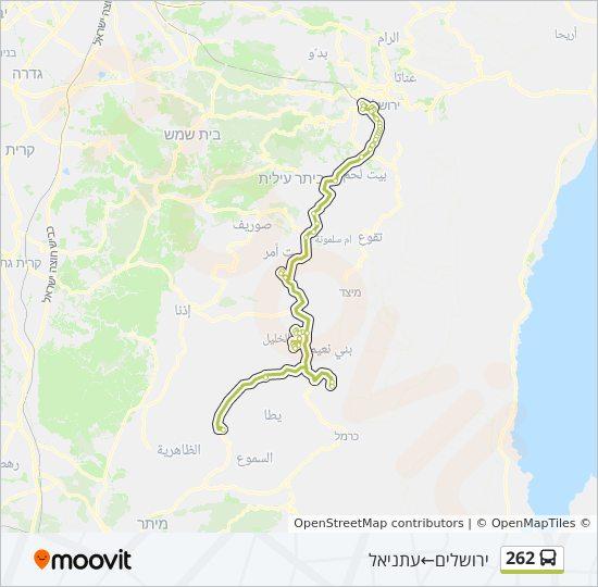 מפת המסלול של קו  262