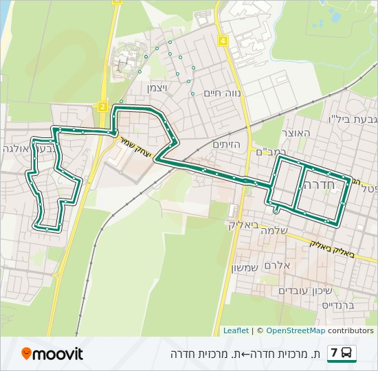 7 bus Line Map