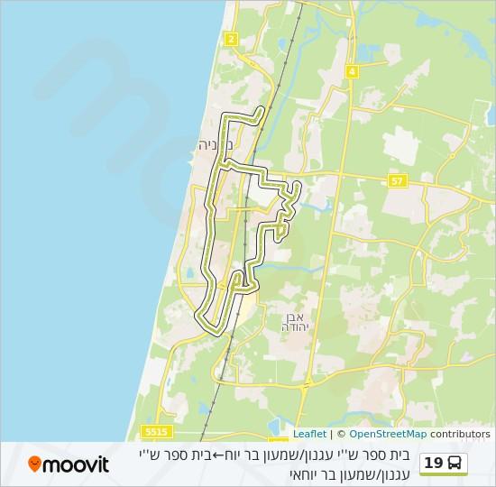 מפת המסלול של קו  19
