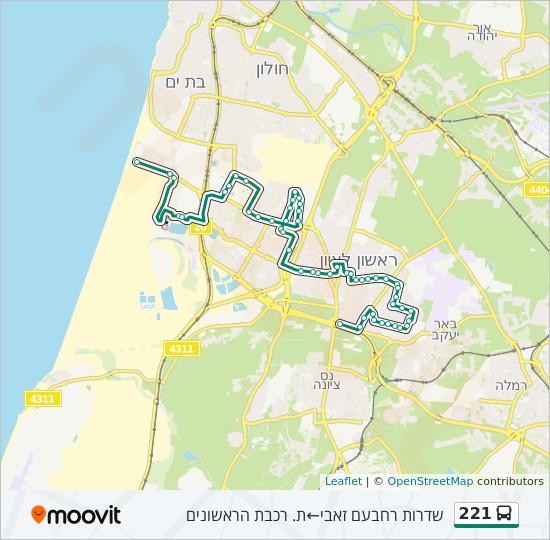 מפת המסלול של קו  221
